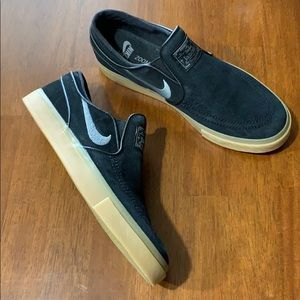 Nike Stefan Janoski zoom air black slip on